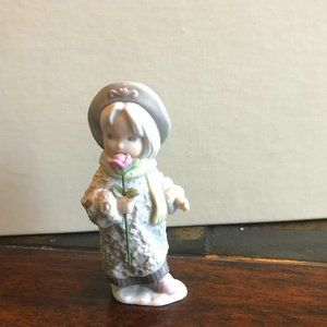 Vintage Enesco by Anderson Girl with Rose figurine